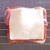 工作日五分钟的营养早餐——鸡蛋芝士培根烤吐司的做法图解5