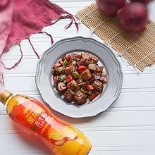 爆汁的黑胡椒牛肉粒#金龙鱼舌尖美味·油你掌勺#