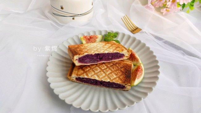 紫薯三明治的做法