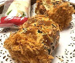 沙拉肉松乳酪面包卷的做法