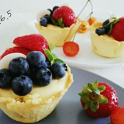 脆皮蓝莓奶酪挞