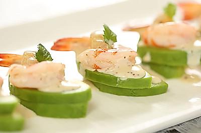 法式牛油果鲜虾干贝沙拉