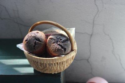 蜜桃黑米蛋糕