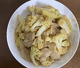 五花肉炒散花菜的做法
