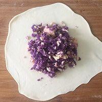 外脆内软爆浆紫薯芝士饼,超级拉丝还爆浆的做法图解8