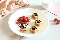 给小屁孩的早餐——猫爪蛋糕配小蕃茄的做法