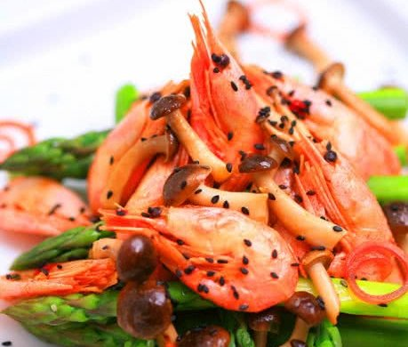 蟹味芦笋北极虾