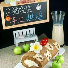 小熊彩绘蛋糕卷