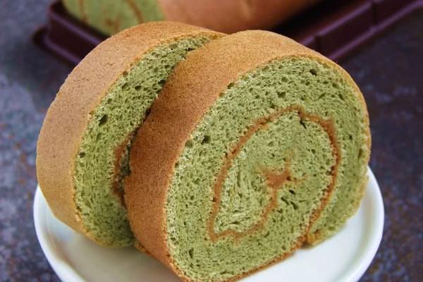 绿茶咖椰瑞士卷的做法_【图解】绿茶咖椰瑞士卷怎么做
