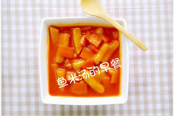 韩式辣年糕,简易自力更生思密达的做法