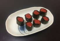 红米金枪鱼军舰寿司的做法
