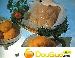 鲜贝虾茸圆子的做法