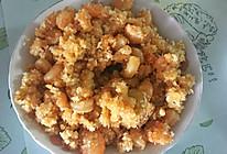 面包屑炒虾的做法