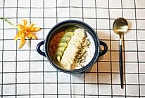 燕麦粥配香蕉、奇异果、南瓜仁的做法