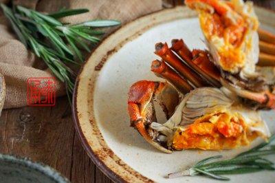 迷迭清酒香蒸蟹,大闸蟹味觉和颜值的新高度