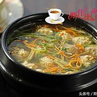 豆苗虫草花汆丸汤