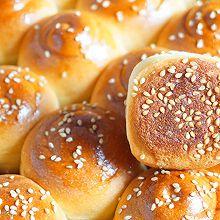 蜂蜜脆底小面包 波兰种 一次发酵#换着花样吃早餐#