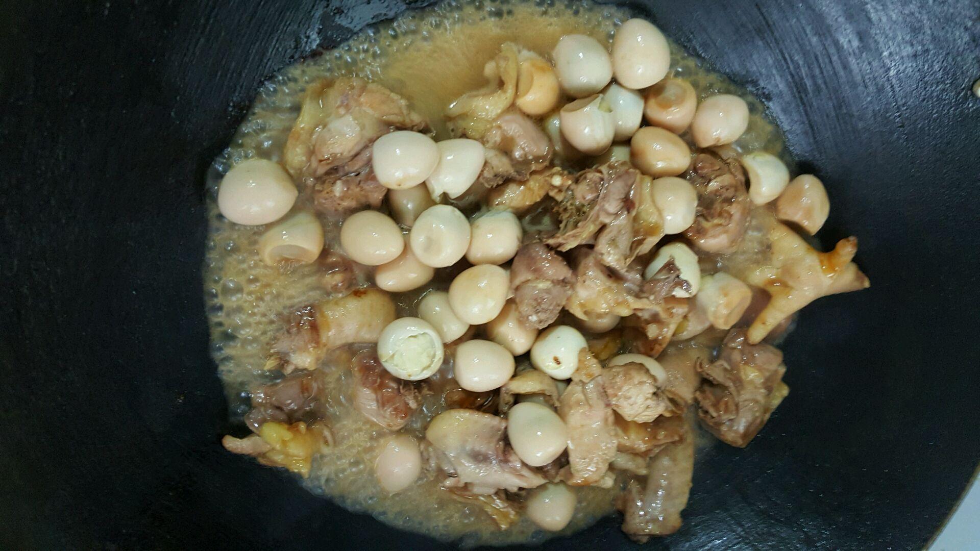猪肉蛋焖鸡的鹌鹑_菜谱_豆果美食交子做法线的做法图片