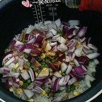 腊肠什锦焖饭 #美的初心电饭煲#的做法图解4