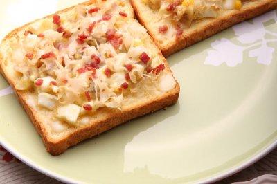 荷仙菇简易比萨(早餐)