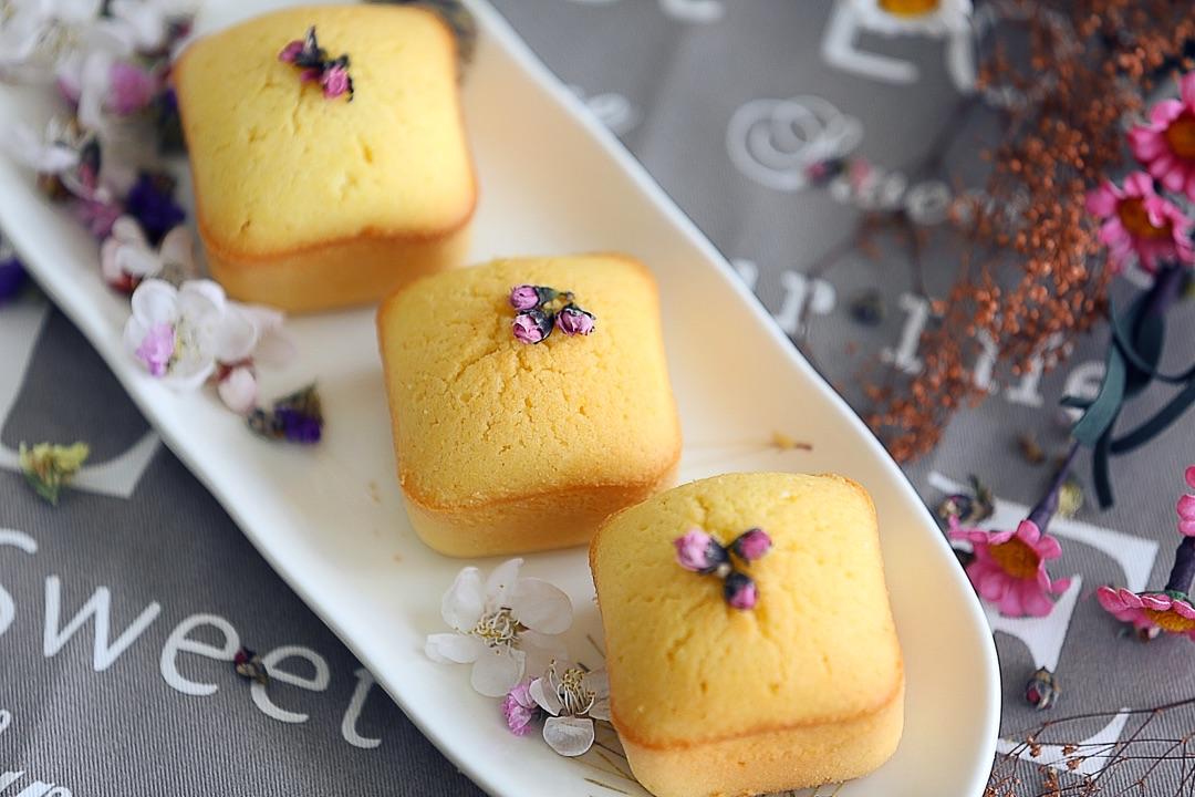 桃花玉米小蛋糕#豆果五周年图片