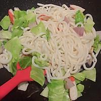 日式炒乌冬#丘比沙拉汁#的做法图解5