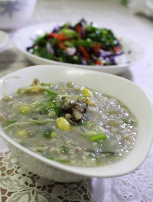 海蛎燕麦粥的做法