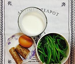 【健身早餐】山药+鸡蛋+茼蒿+牛奶的做法