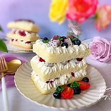 #美食视频挑战赛#火龙果裸蛋糕