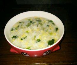 芹菜蛋花粥的做法