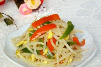 彩椒黄豆芽