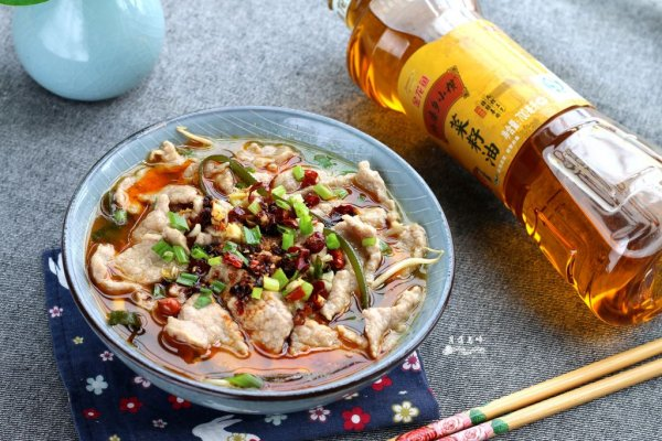 水煮肉片#金龙鱼外婆乡小榨菜籽油 最强家乡菜#的做法