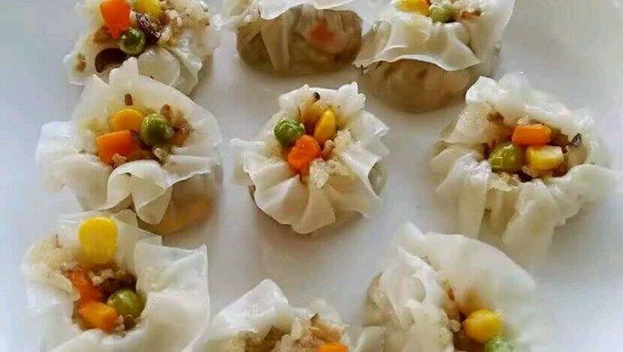 李孃孃爱厨房之一一糯米烧麦(饺子皮版)