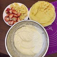 草莓香蕉双拼千层蛋糕的做法图解6