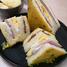 #丘比三明治#鸡蛋火腿三明治