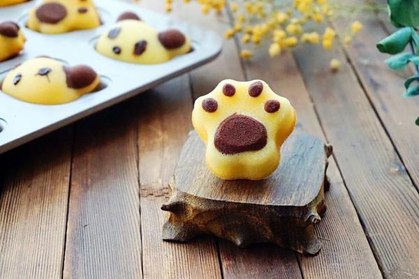 猫爪玛德琳蛋糕#蒸派or烤派#的做法