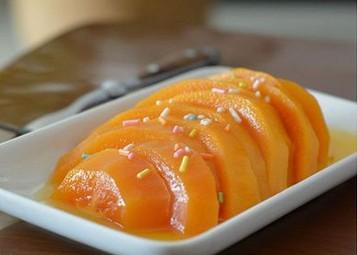 橙汁木瓜的做法图解6