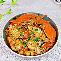 #合理膳食 营养健康进家庭#红烧梭子蟹的做法图解14