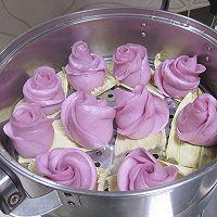 紫薯玫瑰花的做法图解13