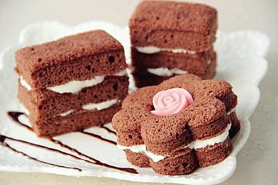 甜蜜下午茶 醇香可可夹心蛋糕