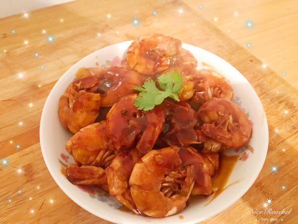 姜丝油焖大虾的做法