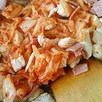 泡菜培根鸡肉炒饭的做法图解8