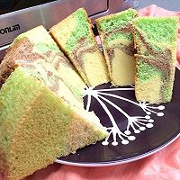 迷彩戚风蛋糕#东菱DL-K40C岩烤烤箱#