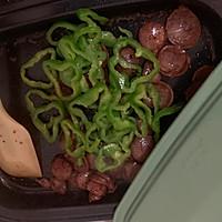 #肉食者联盟#青椒炒香肠的做法图解8