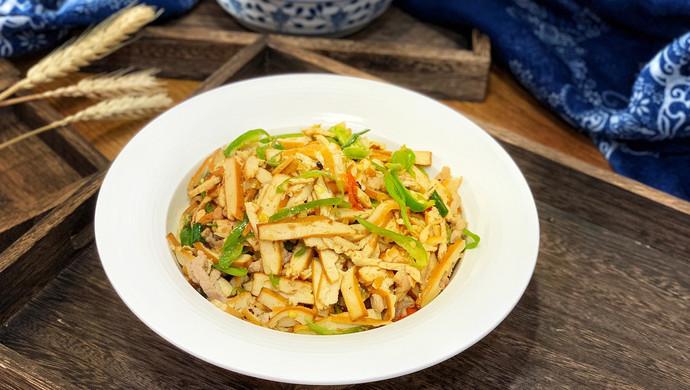 青椒肉丝炒干豆腐