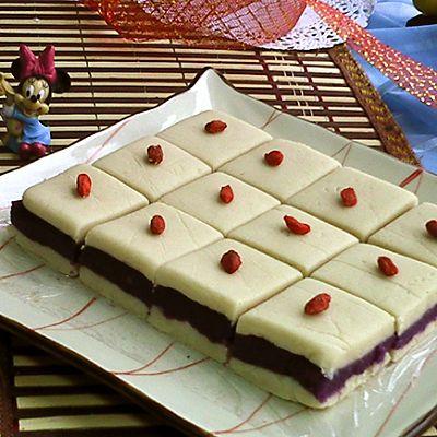 紫薯茯苓芸豆糕