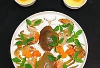 择兰蒸蟹蛋的做法