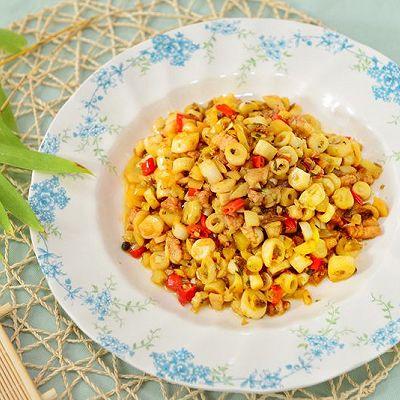 家常下饭菜-小笋炒酸菜