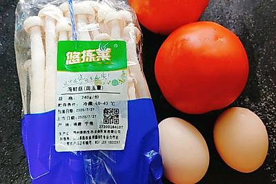 海鲜菇番茄炒蛋