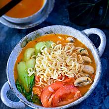 #洗手作羹汤#番茄口蘑方便面